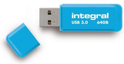Integral Neon USB 3.0 Flash Laufwerk 64GB Laufwerk (Blue)