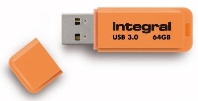 Integral Neon USB 3.0 Flash Laufwerk 64GB Laufwerk (Orange)