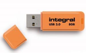 Integral Neon USB 3.0 Flash Laufwerk 8GB Laufwerk (Orange)