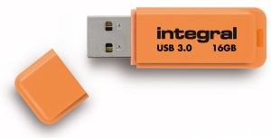 Integral Neon USB 3.0 Flash Laufwerk 16GB Laufwerk (Orange)