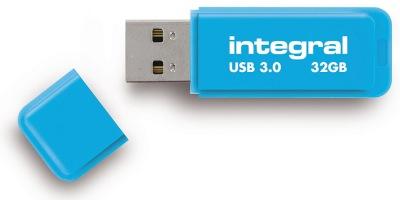 Integral Neon USB 3.0 Flash Laufwerk 32GB Laufwerk (Blue)