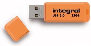Integral Neon USB 3.0 Flash Laufwerk 32GB Laufwerk (Orange)
