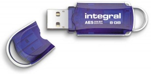 Integral Courier Laufwerk Verschlüsselt USB - (FIPS 197) 8GB Laufwerk
