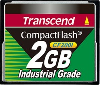 Transcend Industrial Ultra Compact Flash 2GB Karte (200x)
