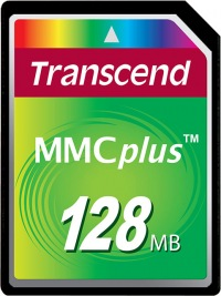 Transcend MultiMedia Karte Plus 128MB Karte
