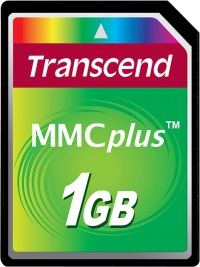 Transcend MultiMedia Karte Plus 1GB Karte