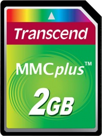 Transcend MultiMedia Karte Plus 2GB Karte
