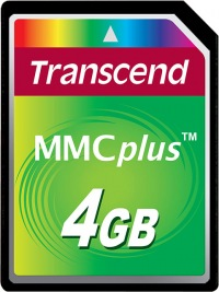 Transcend MultiMedia Karte Plus 4GB Karte
